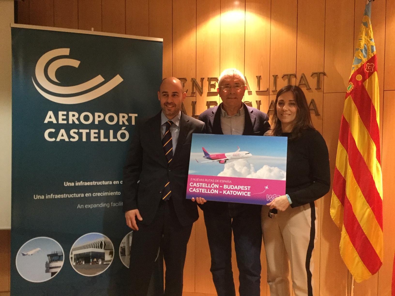 Wizz Air anuncia dos nuevas rutas desde Castellón