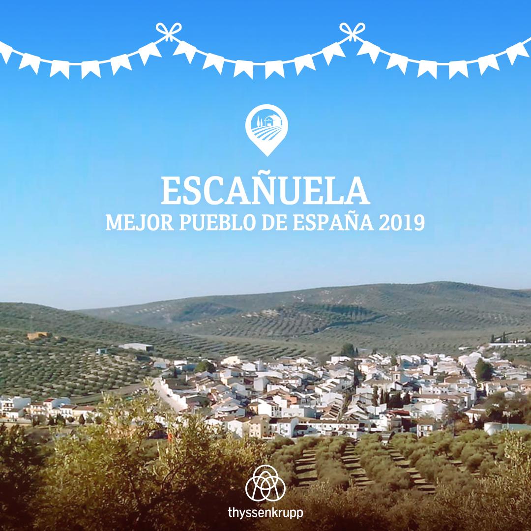 Escañuela en Jaén recibe el premio «El Mejor Pueblo 2019»