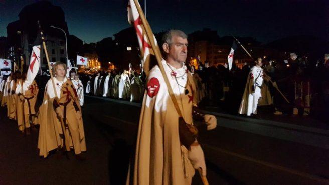 """Ponferrada renovó su compromiso festivo con su historia y su leyenda en la """"Noche Templaria"""""""